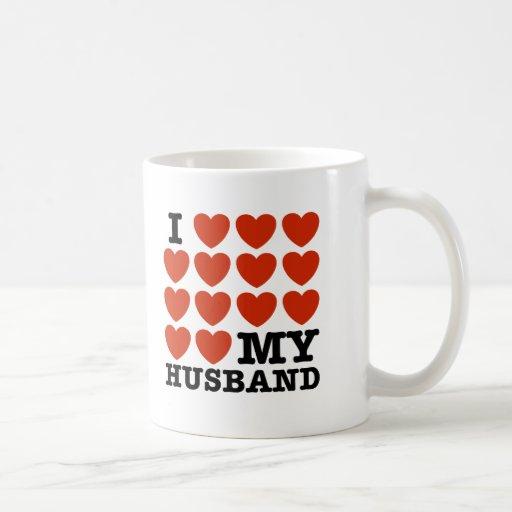I Love My Husband Coffee Mugs