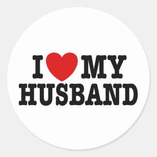 I Love My Husband Round Sticker