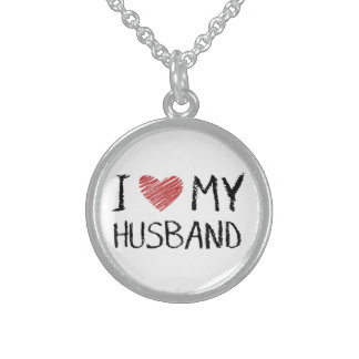 I Love My Husband Sterling Silver Necklace