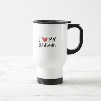 I Love My Husband Travel Mug