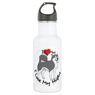 I Love My Husky Dog 532 Ml Water Bottle
