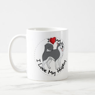 I Love My Husky Dog Coffee Mug