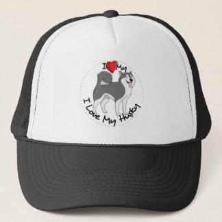 I Love My Husky Dog Trucker Hat