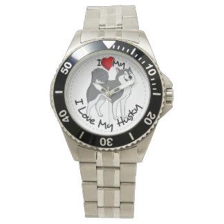 I Love My Husky Dog Watch