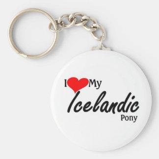 I love my Icelandic Pony Key Ring