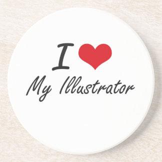 I Love My Illustrator Coasters