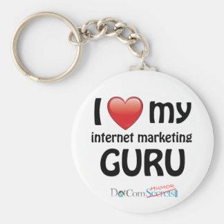 I Love My IM Guru Basic Round Button Key Ring