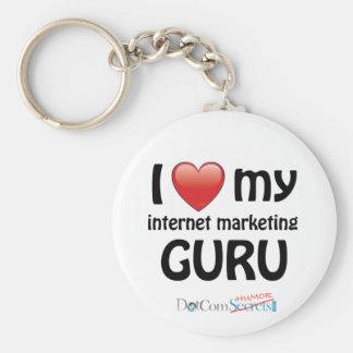 I Love My IM Guru Keychain