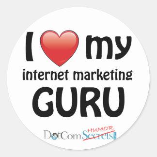 I Love My IM Guru Round Sticker