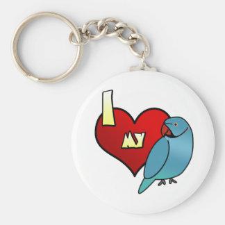 I Love my Indian Ringneck Parakeet Keychain