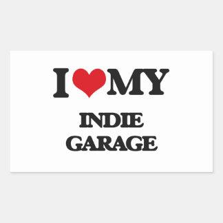I Love My INDIE GARAGE Sticker