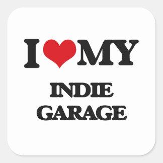 I Love My INDIE GARAGE Stickers