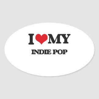 I Love My INDIE POP Stickers