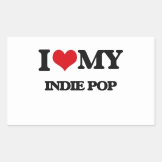I Love My INDIE POP Rectangular Sticker
