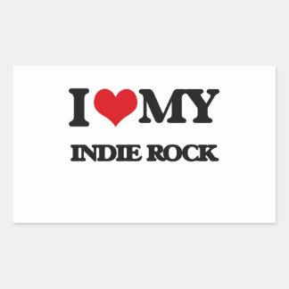 I Love My INDIE ROCK Rectangular Sticker