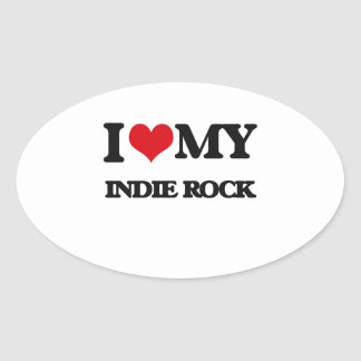I Love My INDIE ROCK Stickers