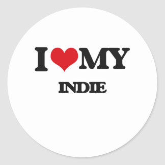 I Love My INDIE Stickers