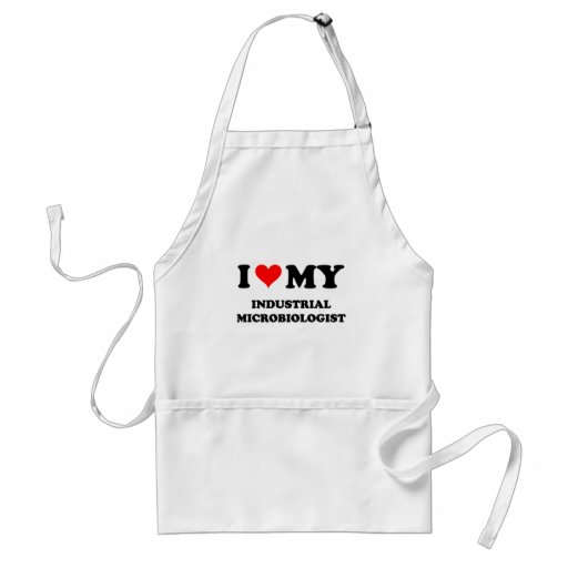 I Love My Industrial Microbiologist Apron
