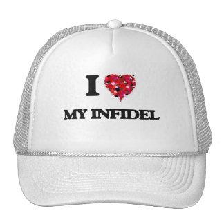 I Love My Infidel Cap