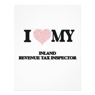I love my Inland Revenue Tax Inspector (Heart Made 21.5 Cm X 28 Cm Flyer