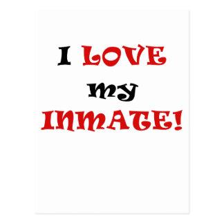 I Love my Inmate Postcard