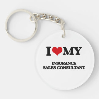 I love my Insurance Sales Consultant Keychains