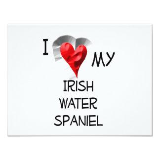 I Love My Irish Water Spaniel 11 Cm X 14 Cm Invitation Card