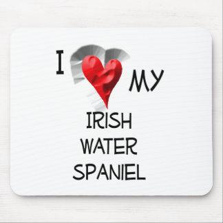 I Love My Irish Water Spaniel Mouse Pad