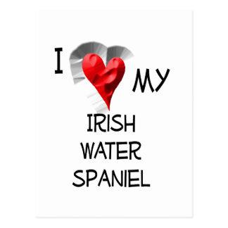 I Love My Irish Water Spaniel Postcard