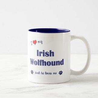 I Love My Irish Wolfhound (Male Dog) Mugs