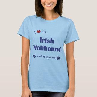 I Love My Irish Wolfhound (Male Dog) T-Shirt