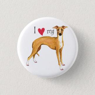 I Love my Italian Greyhound 3 Cm Round Badge