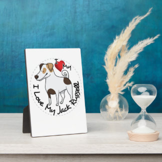 I Love My Jack Russell Dog Plaque