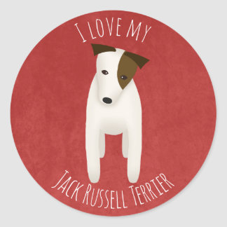 I love my Jack Russell Terrier Classic Round Sticker