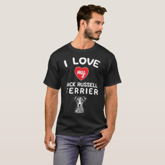 I love my Jack Russell Terrier Face Graphic Art T-Shirt
