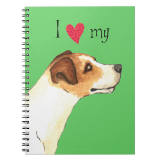 I Love my Jack Russell Terrier Notebook