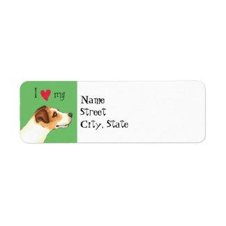 I Love my Jack Russell Terrier Return Address Label
