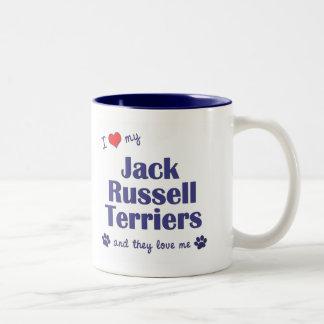 I Love My Jack Russell Terriers Multiple Dogs Coffee Mug