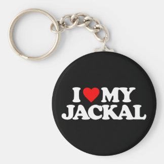 I LOVE MY JACKAL BASIC ROUND BUTTON KEY RING