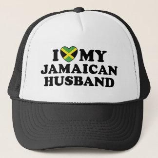 I Love My Jamaican Husband Trucker Hat