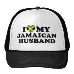 I Love My Jamaican Husband Trucker Hats