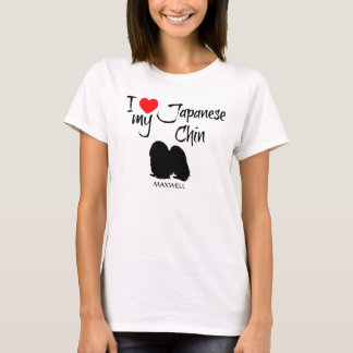 I Love My Japanese Chin Dog T-Shirt