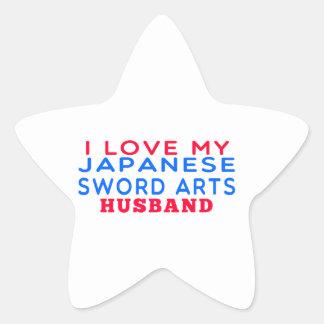 I Love My Japanese Sword Arts Husband Star Stickers