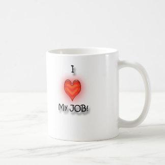 I Love My Job! Basic White Mug