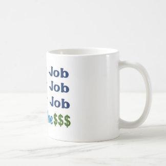 I love my Job, I need the money Basic White Mug