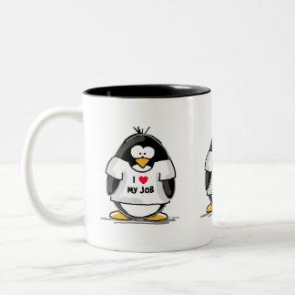 I love my job - I'm the Boss Two-Tone Mug