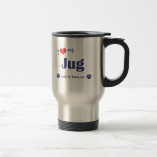 I Love My Jug (Male Dog) Mugs