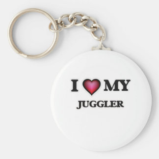 I love my Juggler Basic Round Button Key Ring