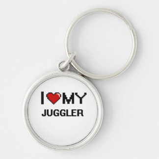 I love my Juggler Silver-Colored Round Key Ring