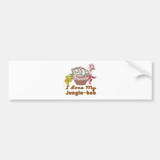 I Love My Jungle-bob Bumper Sticker